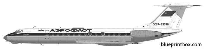 tupolev tu 134 model airplane plan