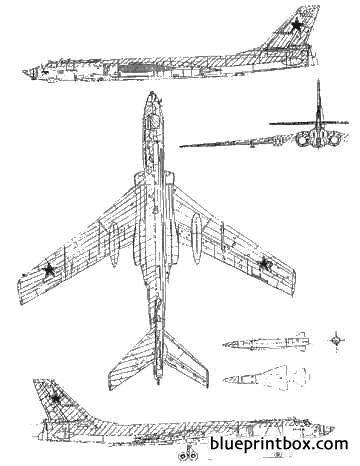 tupolev tu 16k 26 badger g model airplane plan