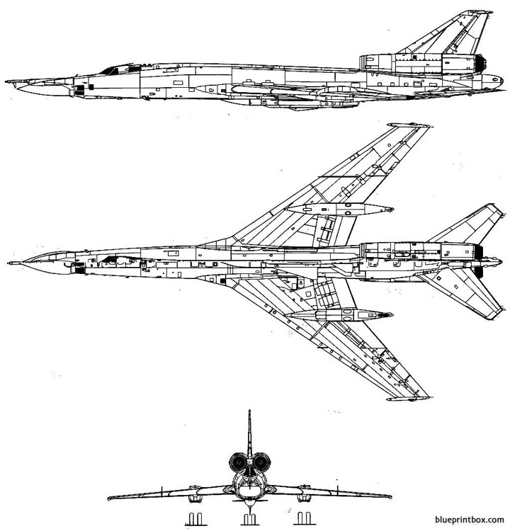 tupolev tu 22 blinder model airplane plan