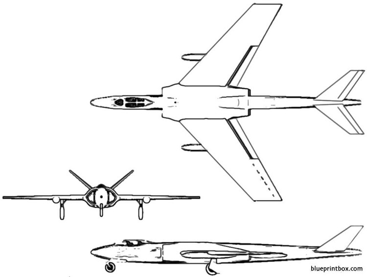 vickers 511 model airplane plan