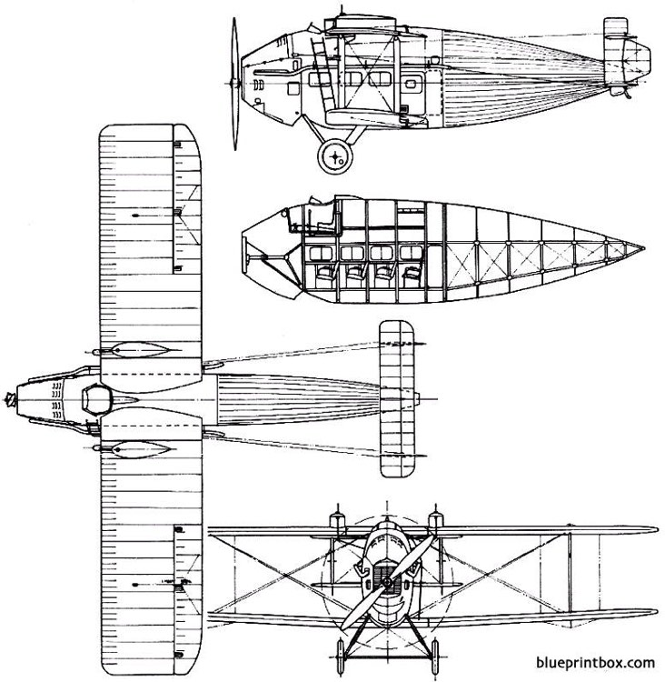 vickers 61 vulcan 1922 england model airplane plan