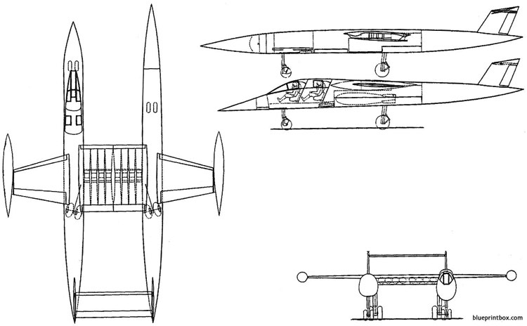 vickers supermarine type 582 twin model airplane plan