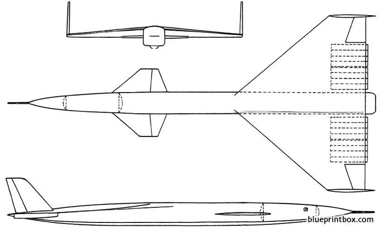 vickers type 799 model airplane plan