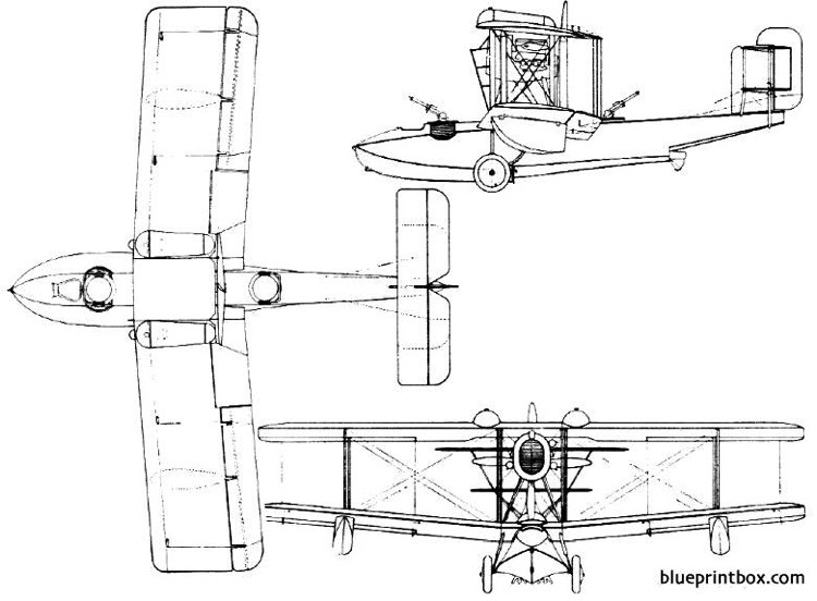 vickers vanellus 1925 england model airplane plan