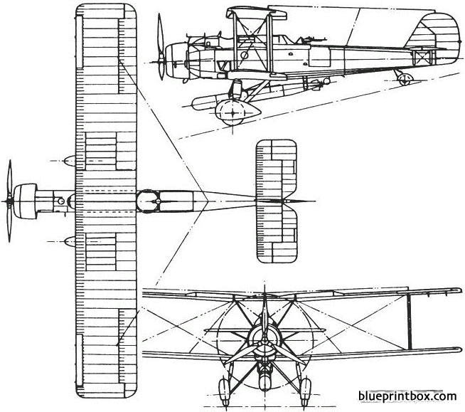 vickers vildebeest 1928 england model airplane plan