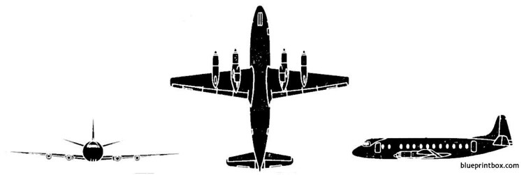 vickers viscount model airplane plan