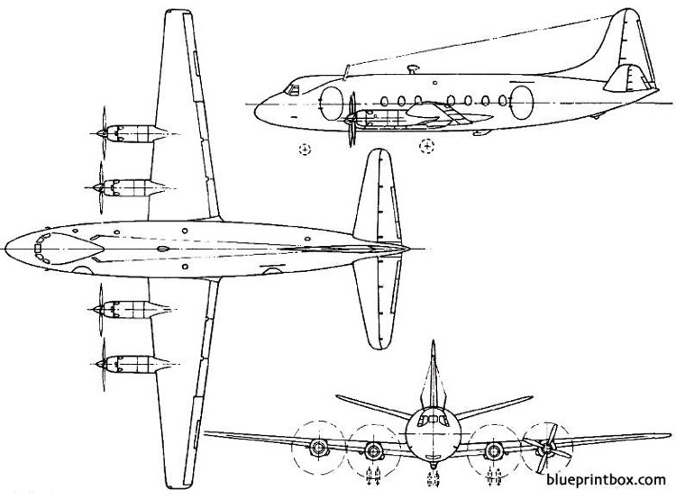 vickers viscount 1948 england model airplane plan