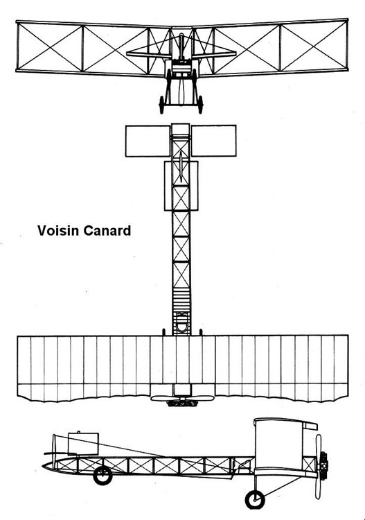 voisin canard 3v model airplane plan
