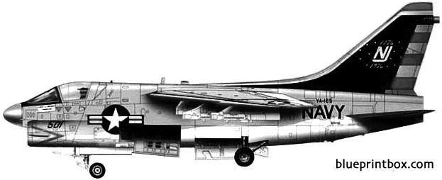 vought a 7b corsair ii model airplane plan