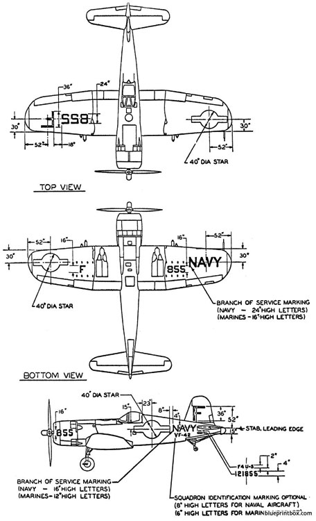 vought f4u 5 model airplane plan