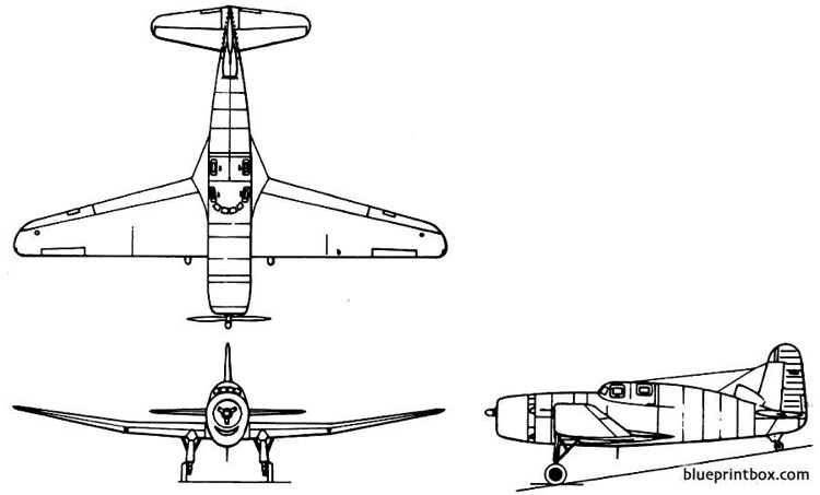 vought v326 model airplane plan