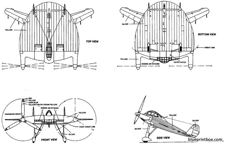 vought v 173 2 model airplane plan