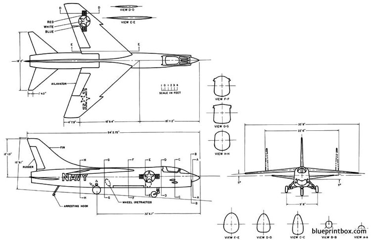 vought vought f8u 1 model airplane plan