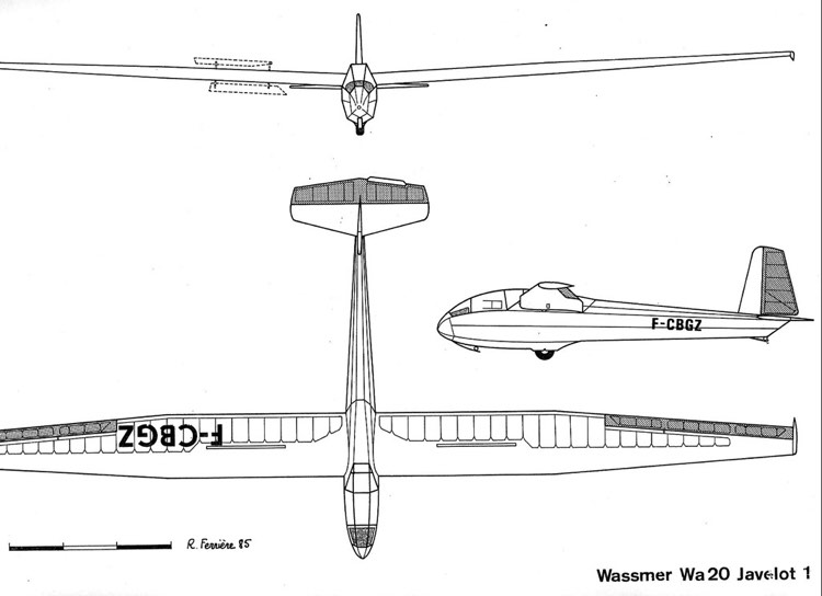 wa20 3v model airplane plan