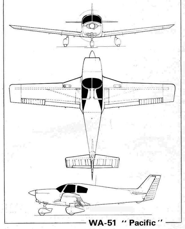 wassmer51 3v model airplane plan