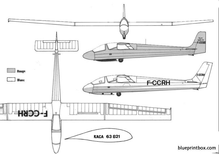 wassmer wa 30 bijave model airplane plan