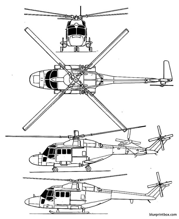 westland wg 13 lynx model airplane plan