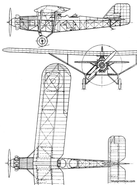 westland witch 1928 england model airplane plan