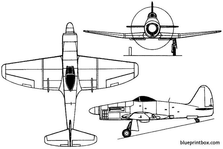 westland wyvern tf mk 1 1946 england model airplane plan