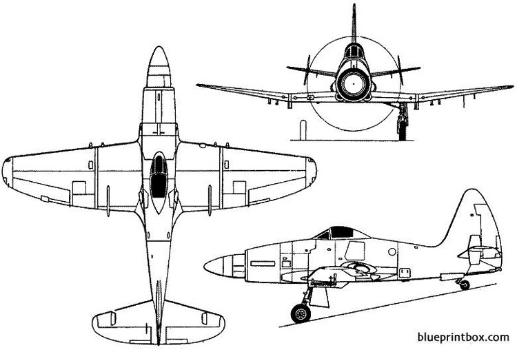 westland wyvern tf mk 2  s mk4 1949 england model airplane plan
