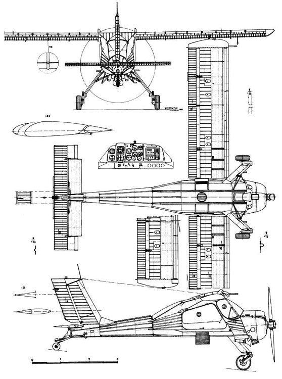 wilga 2 3v model airplane plan