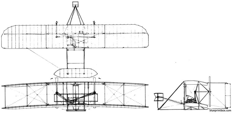 wright brothers 1903 plane model airplane plan