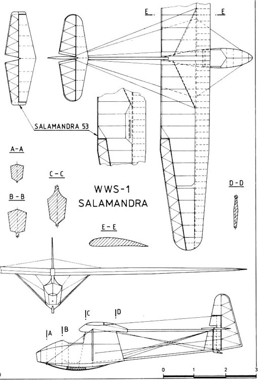 wws1 salamandra 3v model airplane plan