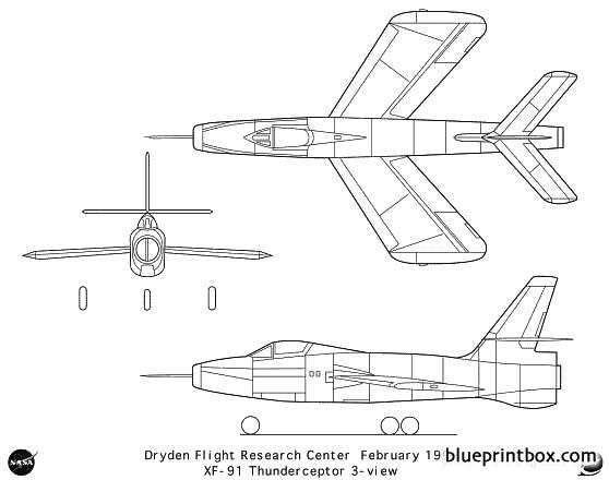 xf 91 model airplane plan