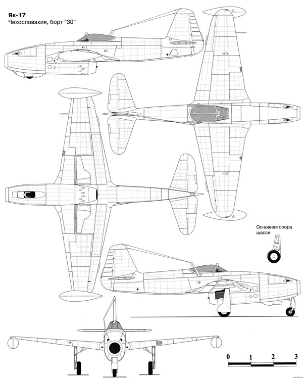 yak 17 model airplane plan