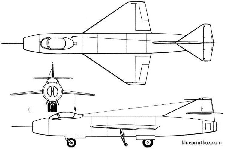 yakovlev yak 1000 1951 russia model airplane plan