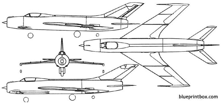 yakovlev yak 140 1955 russia model airplane plan