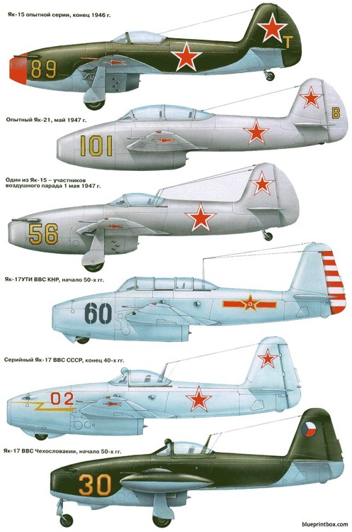 yakovlev yak 15 10 model airplane plan