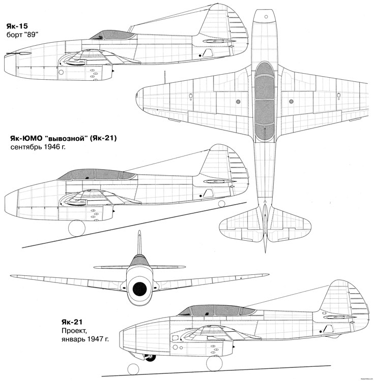 yakovlev yak 15 2 model airplane plan