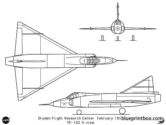 yf 102 model airplane plan