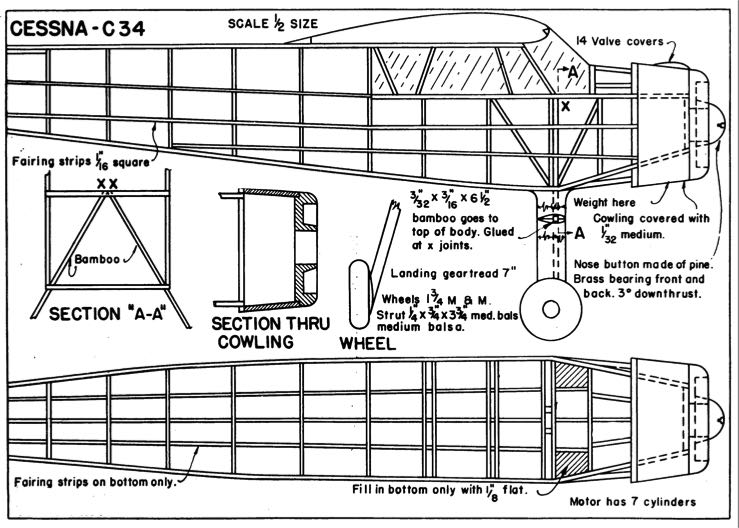 C-34 p1 model airplane plan