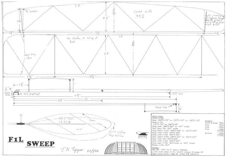 F1L JK.Tipper - F1L Sweep model airplane plan