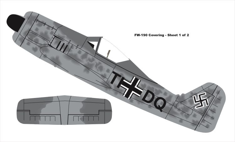 FW-190 Covering model airplane plan
