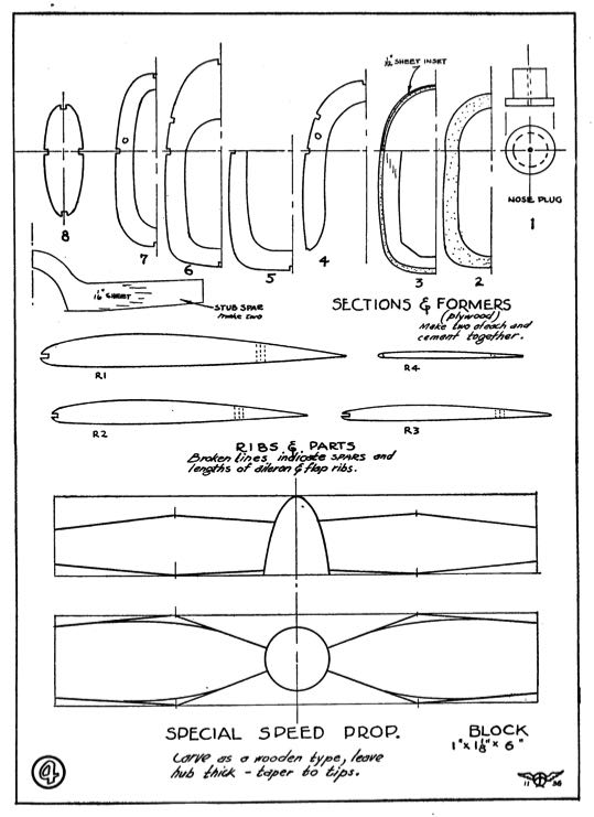 Folkerts p4 model airplane plan