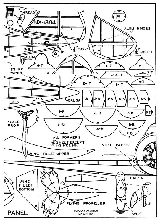 Seversky P-35 p2 model airplane plan