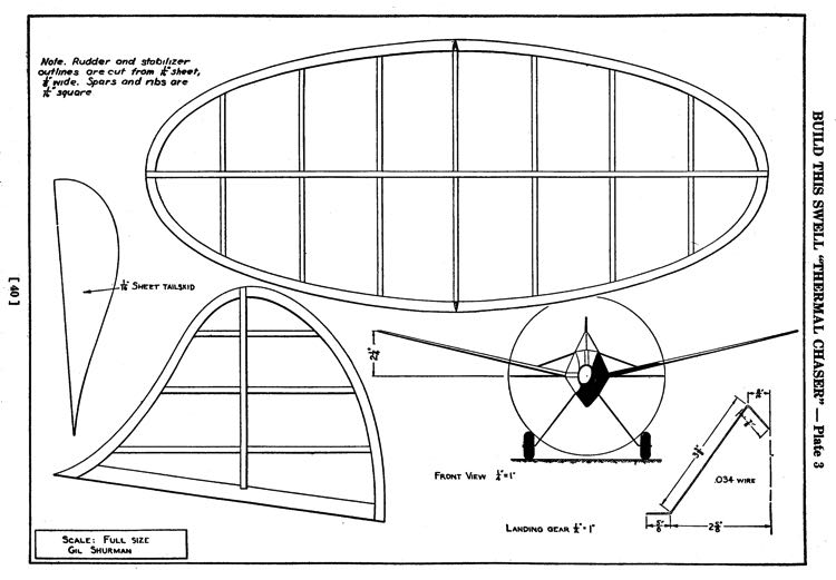 Thermal Chaser p3 model airplane plan