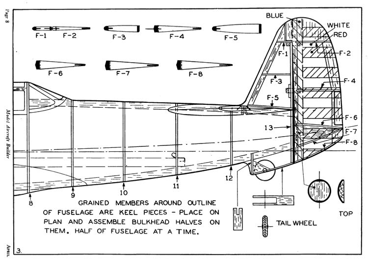 Vultee V-11 Attack p3 model airplane plan