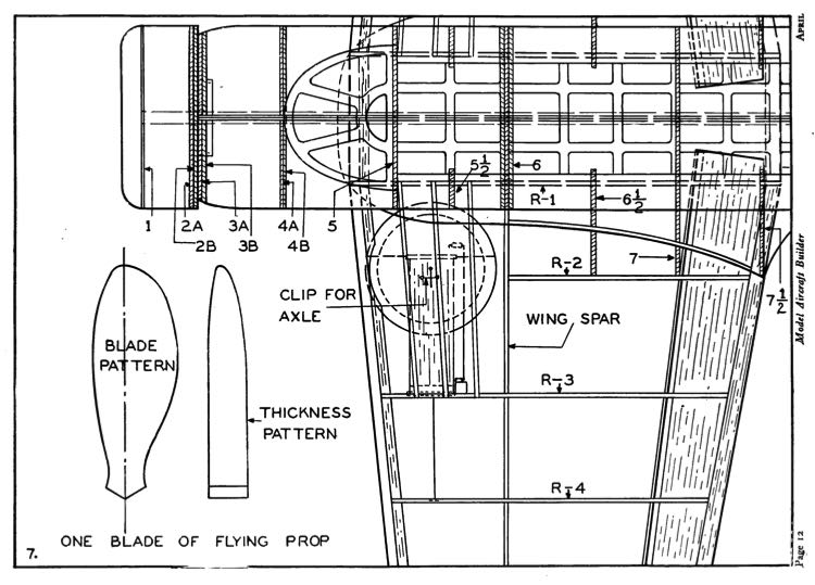 Vultee V-11 Attack p7 model airplane plan