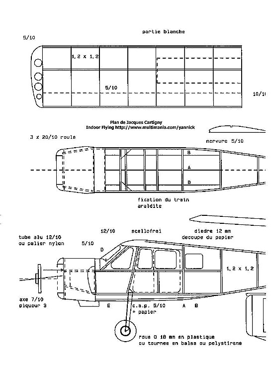 broussard1 model airplane plan