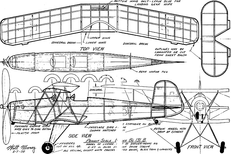 bucknerbu131 model airplane plan
