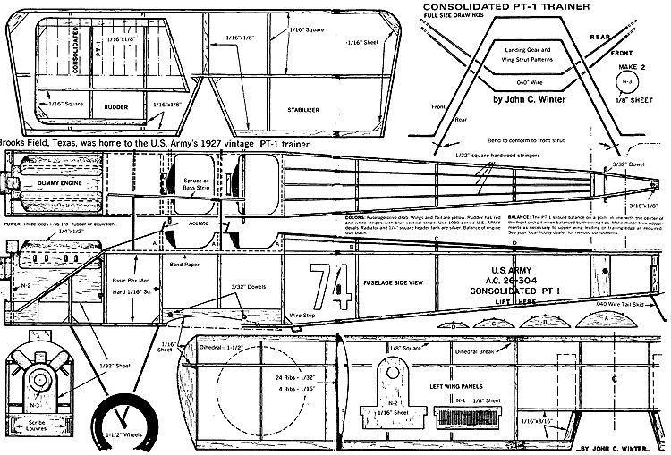 conspt-1 model airplane plan