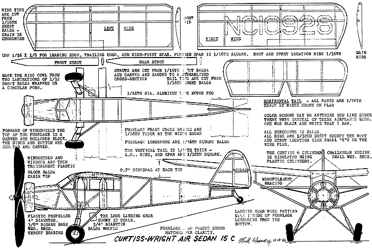 curtisswright model airplane plan