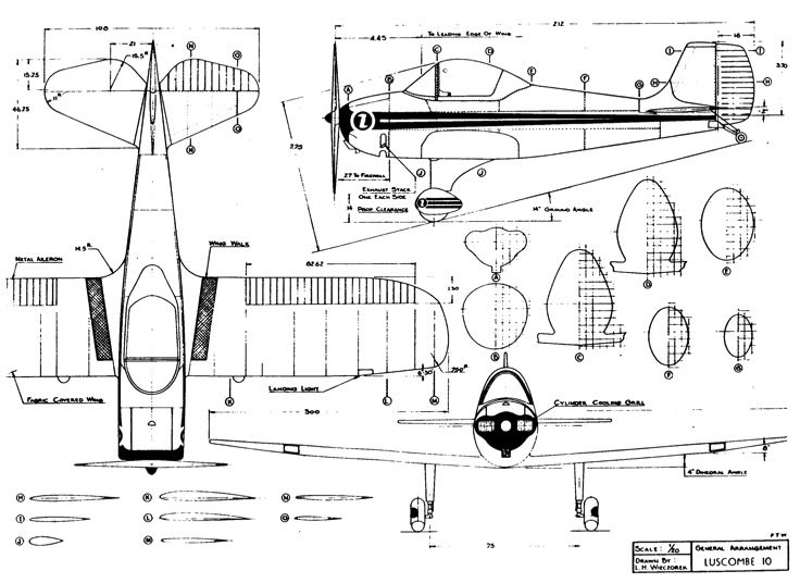 lusc10 3v model airplane plan