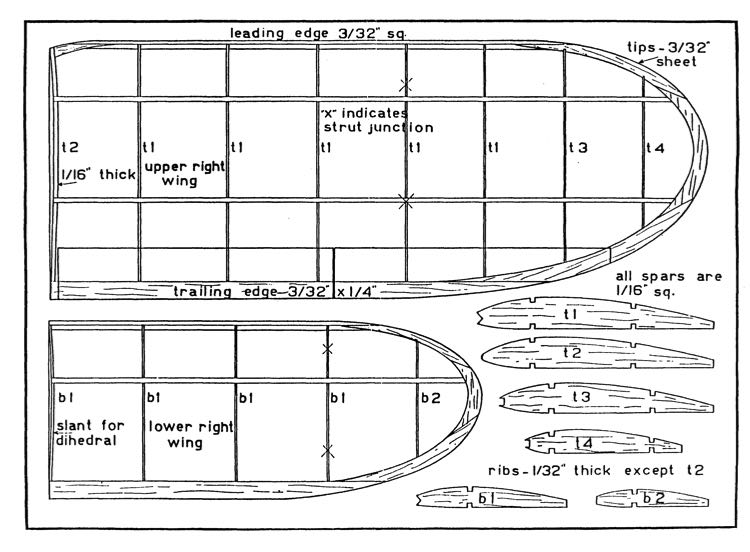 waco 2 model airplane plan