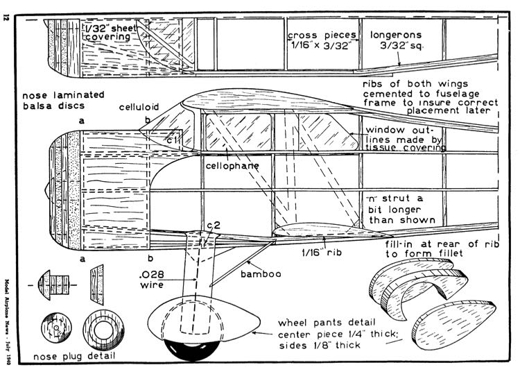 waco 4 model airplane plan