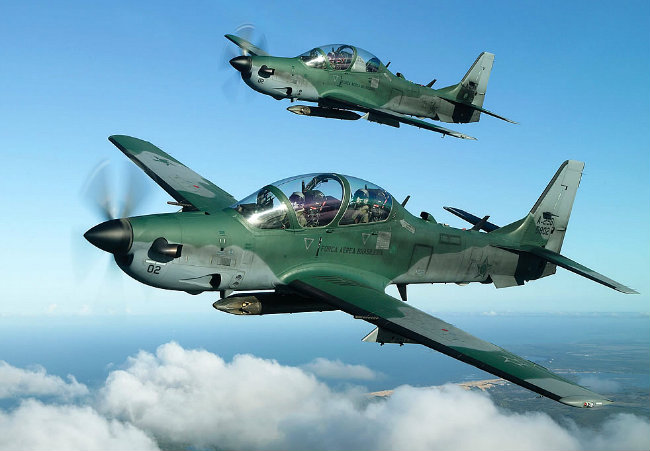 EMB-314 A-29 SUPER TUCANO model airplane plan